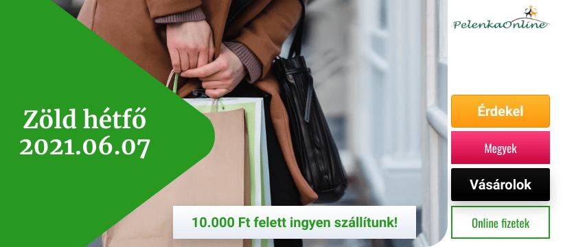 Zöld hétfő, ingyen szállítás